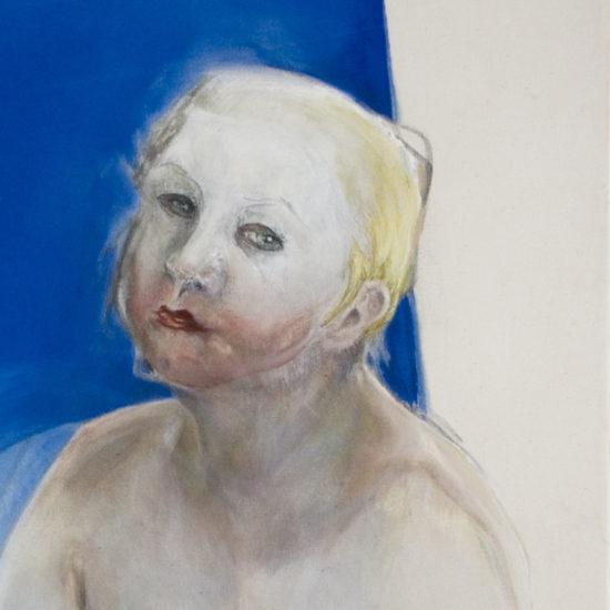 Mel Dare, Mask (self-portrait 1), oil paint on canvas, 100 x 80cm, 1999